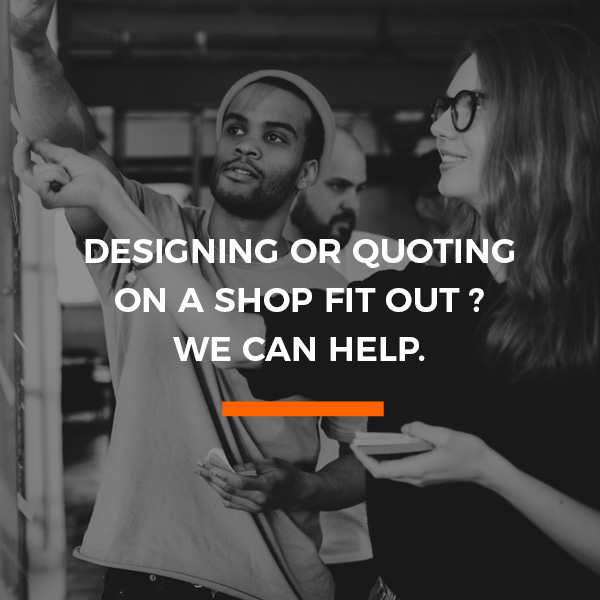 Designing or quoting on a shop fitout